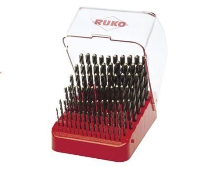 Bộ mũi khoan HSS 91 chi tiết 1-10mm  215223 RUKO