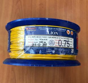 Dây đơn ruột nhiểu sợi đồng VCm 0.75 (VÀNG) LiON