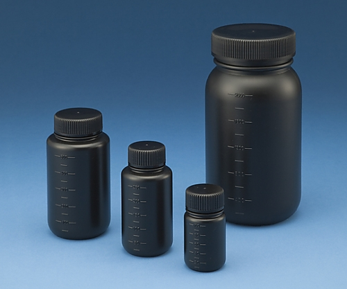 Lọ nhựa đen miệng rộng có vạch chia 100ml  15-3012-55 ASONE
