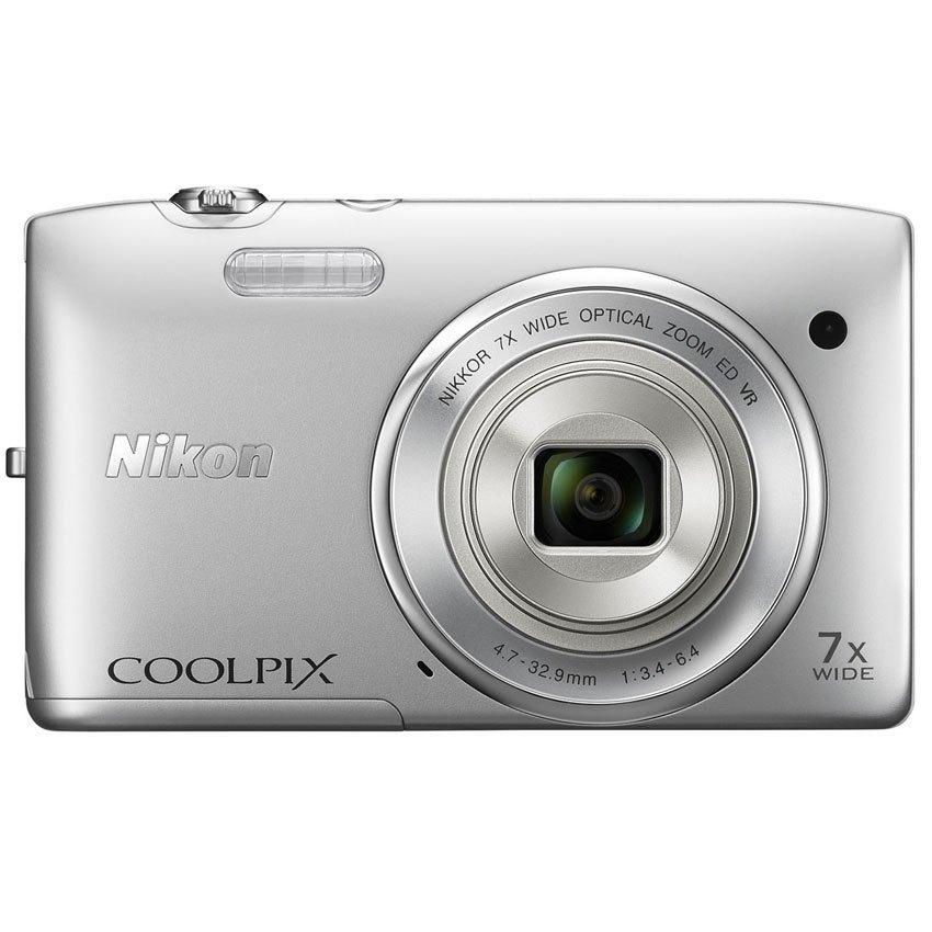 Máy ảnh màu bạc Coolpix S3500 NIKON