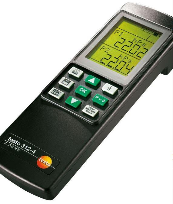 Máy đo áp suất chênh lệch  312-4 Testo