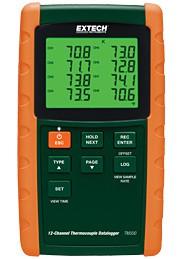 Bộ ghi dữ liệu nhiệt độ ( 12 kênh, 6 loại cặp nhiệt độ) TM500 Extech