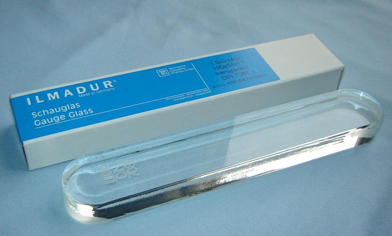 Kính thủy nồi hơi  DIN 7081 (190mm x 30mm x 17mm) MAXOS