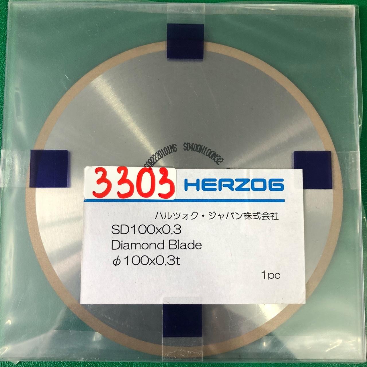 Đĩa cắt kim cương φ100x0.3  SD100X0.3 Herzog
