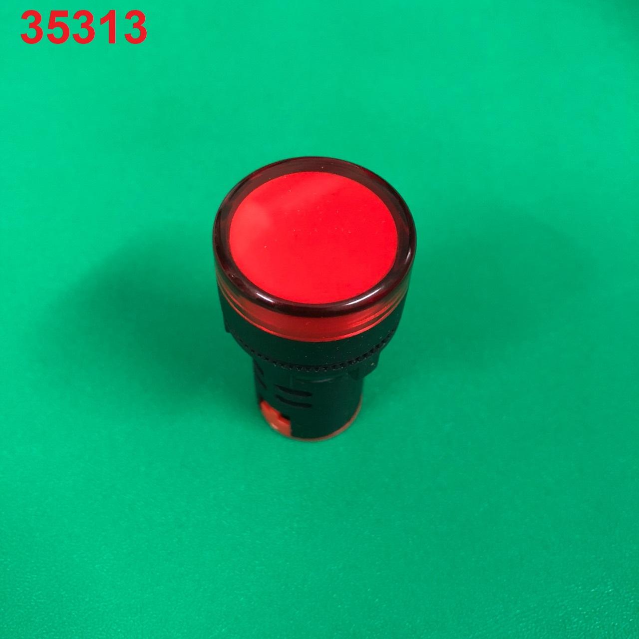Đèn báo LED 220 AC phi 22, màu đỏ AD16-22D/S đỏ WINSUN
