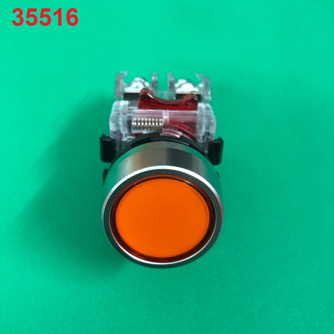 Nút nhấn không đèn viền nhôm phi 22 1NO + 1NC  MRF-RM1 (màu vàng) MRF-RM1 (Y) HANYOUNG