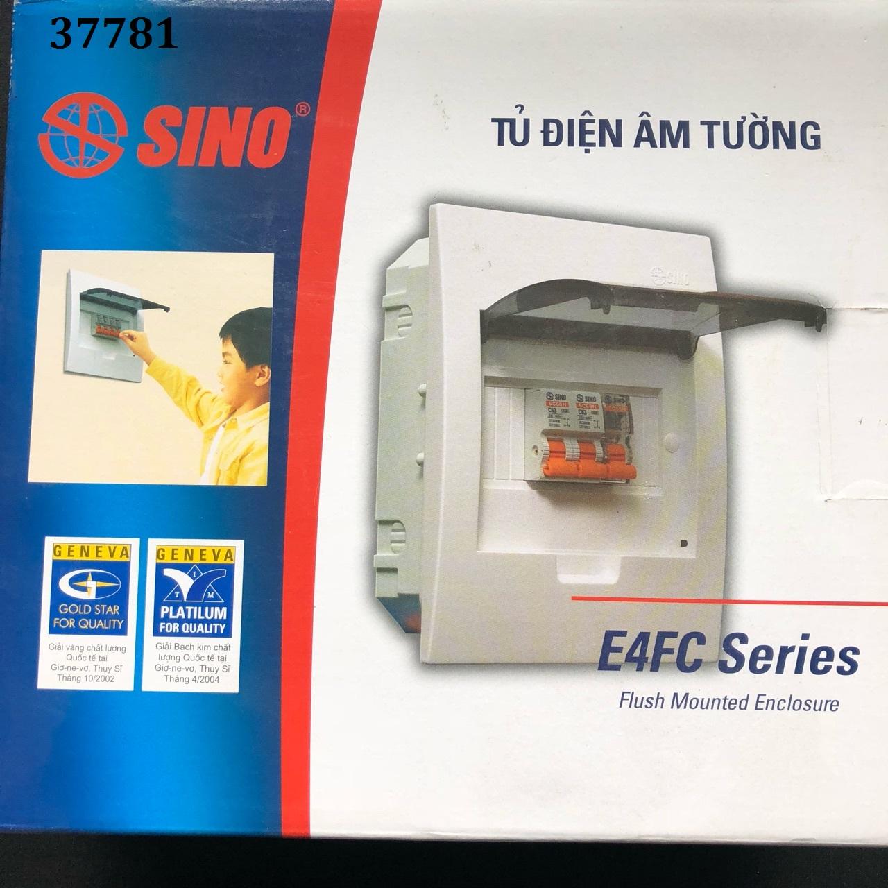 Tủ điện âm tường 6 đường  E4FC3/6SA SINO