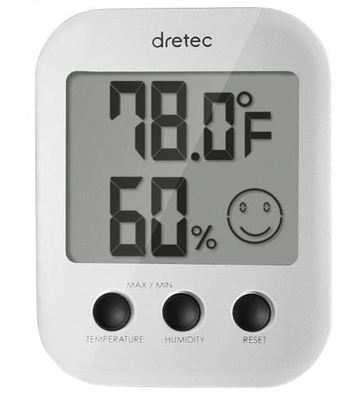 Đồng hồ đo nhiệt độ, độ ẩm -10,0 ~ 50,0 ℃/ 10 ~ 98%  O-230WT Dretec