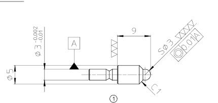 Đầu đo cho chân đế ngang  FH-CP-3.0 CITIZEN