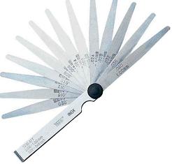 Thước căn lá INOX 13 lá, đo khe hở 0.05-1.0 mm  413105 Vogel