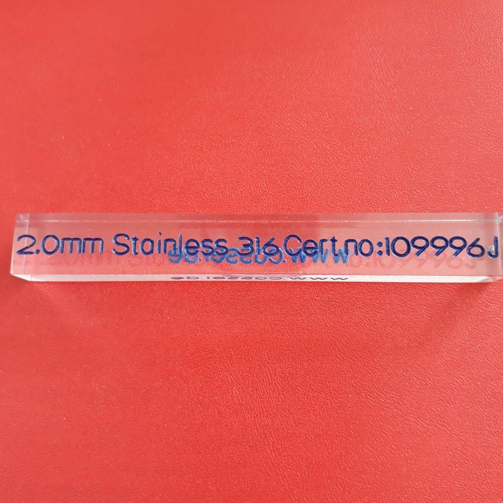 Mẫu chuẩn cho máy dò kim loại SUS 2.0mm  109996J CASSEL