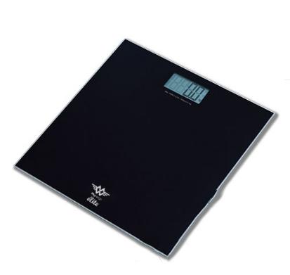 Cân sức khỏe điện tử màu đen tải trọng tối đa 180 kg  Elite MYWEIGH