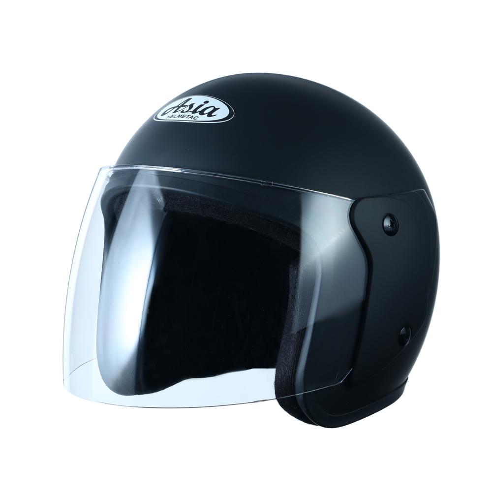 Nón bảo hiểm 3/4 đầu màu đen mờ  MT-111 ASIA