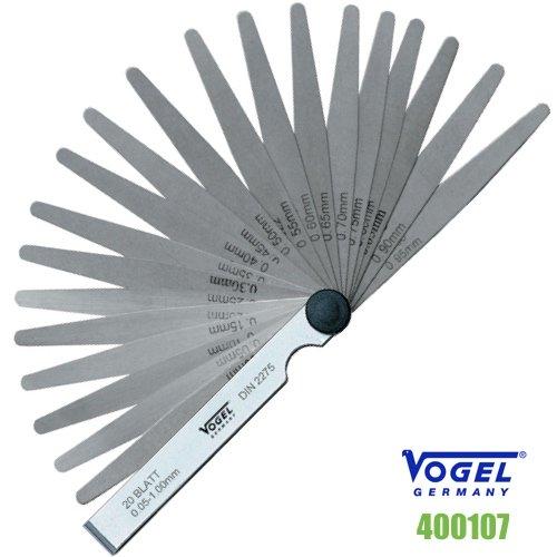 Thước căn lá 20 lá đo khe hở 0.05-1.0 mm  400107 Vogel