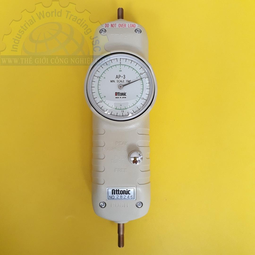 Đồng hồ đo lực kéo, đẩy cơ 3Kg/30N mechanical Force gauge AP-3 ATTONIC