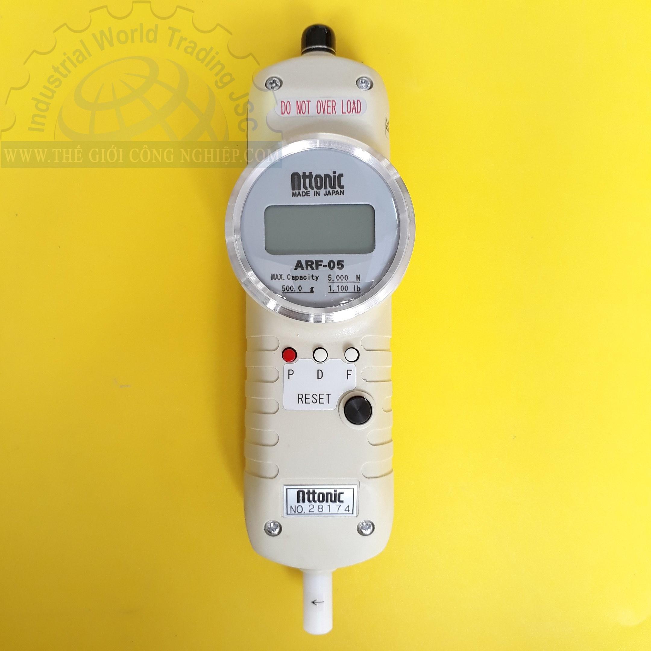 Thiết bị đo lực kéo đẩy điện tử 0-5000N ARF-05 ATTONIC