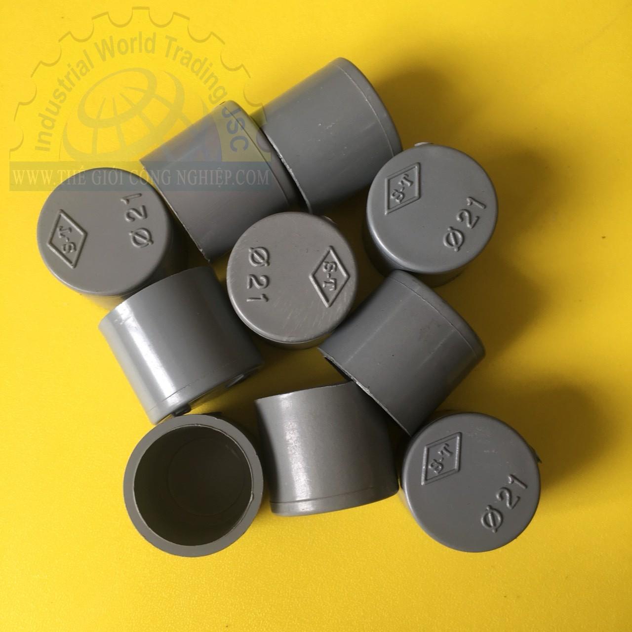 Bít nhựa PVC phi 21  TGCN-44732 Nhựa Bình Minh