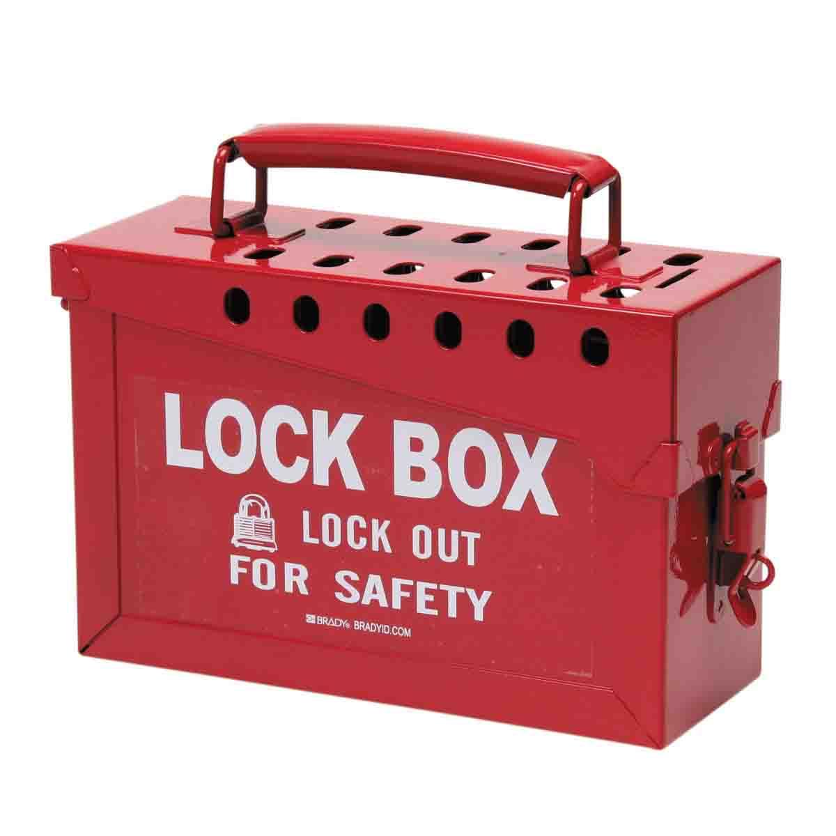Hộp khóa kim loại di động màu đỏ  65699 BRADY
