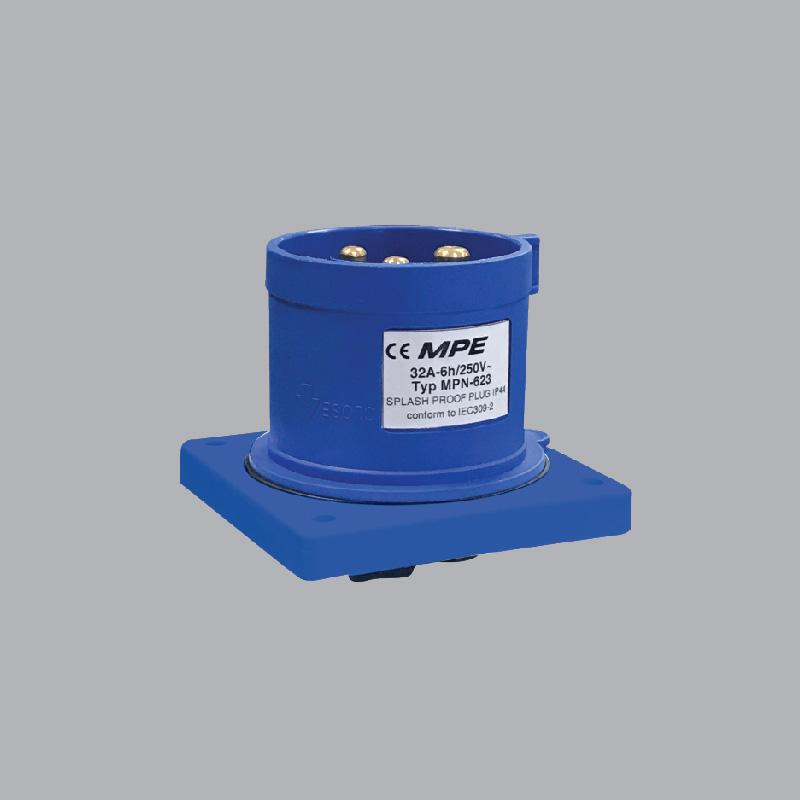 Phích cắm loại di động có kẹp giữ dây 32A-380V-2P+E-IP44  MPN-623 MPE