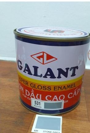 Sơn dầu chuyên cho sắt, gỗ màu xám  531 (17.5L) GALANT