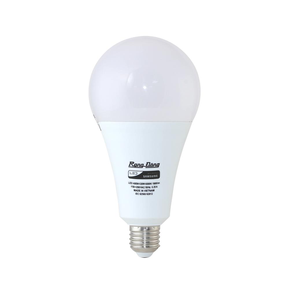 Bóng đèn Led Buld tròn 20W  LED A95N1/20W.H Ánh Sáng Trắng Rạng Đông