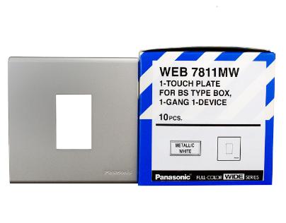 Mặt vuông dùng cho 1 thiết bị   WEB7811MW Panasonic