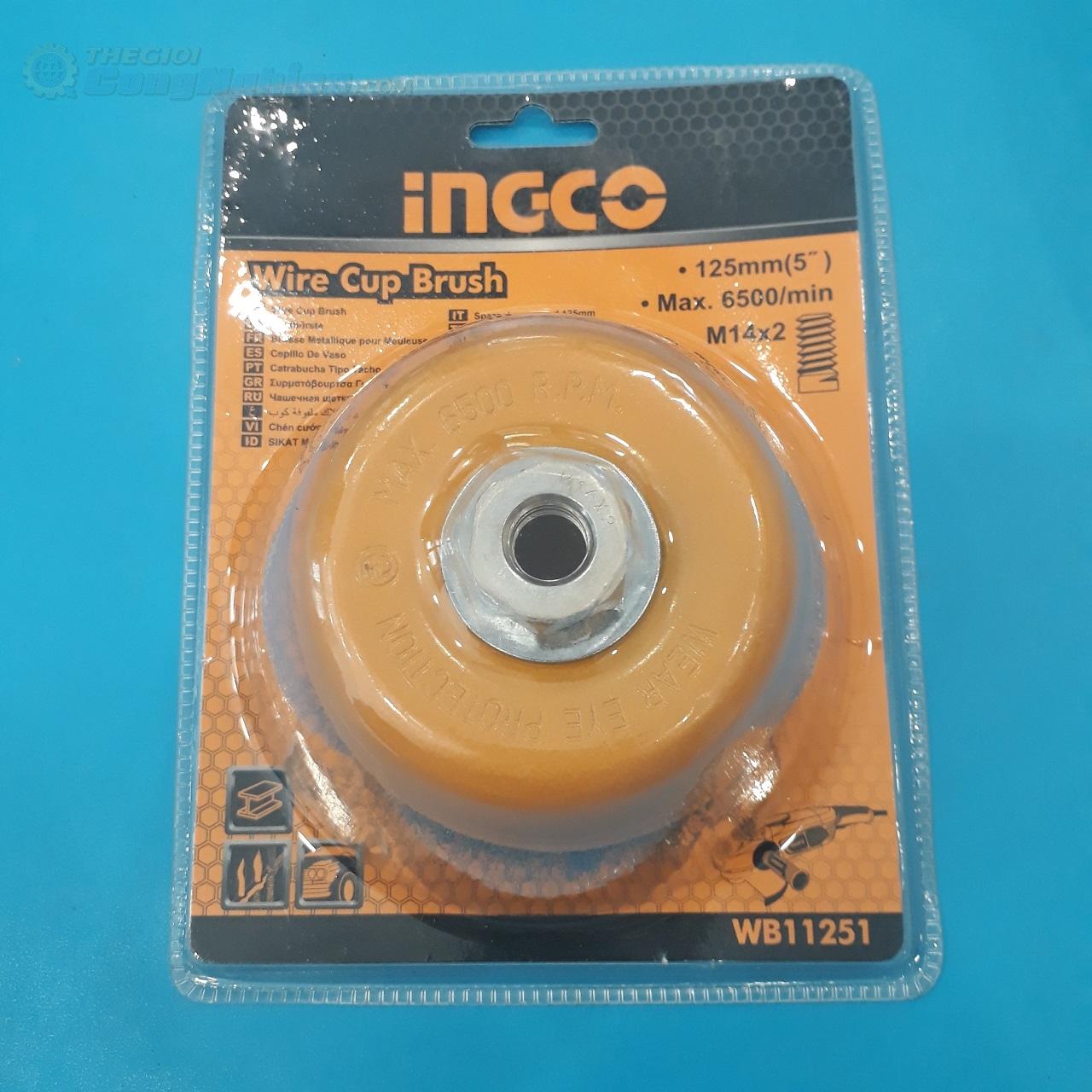 Chén cước thẳng 125mm  WB11251 INGCO