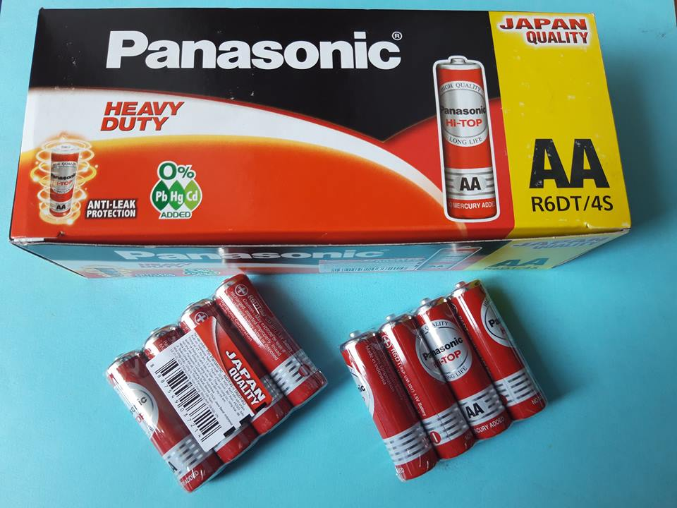 Pin than tiểu đỏ đũa aa (hi-top)  R6DT/4S-V( viên) Panasonic