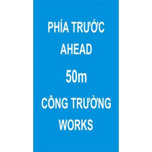 Biển báo hiệu phía trước có công trường thi công 80x140cm  441c Vietnam