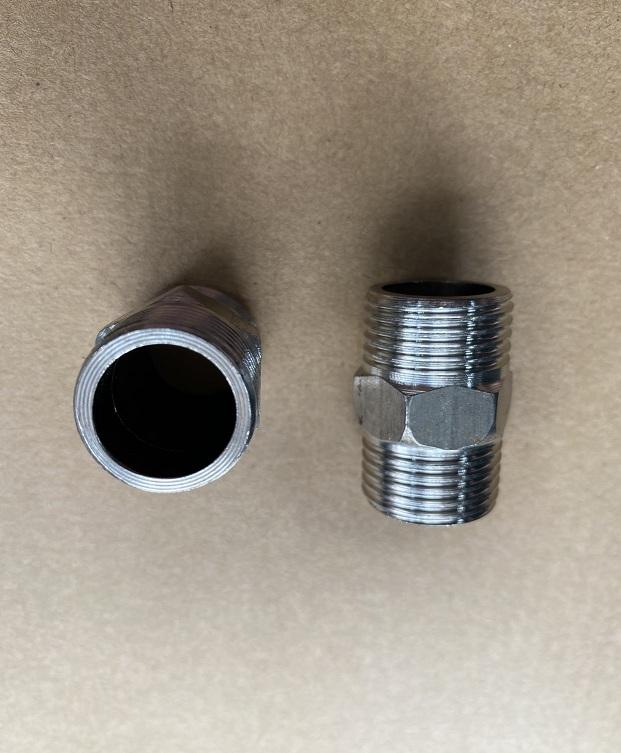 Nối thẳng 2 đầu ren ngoài ø21 chất liệu inox 304 trơn  TGCN-51201 OEM-1338