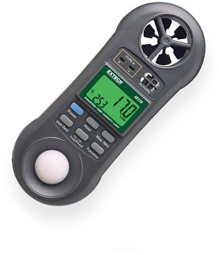 Máy đo nhiệt đô, độ ẩm, tốc độ gió, ánh sáng  45170 Extech