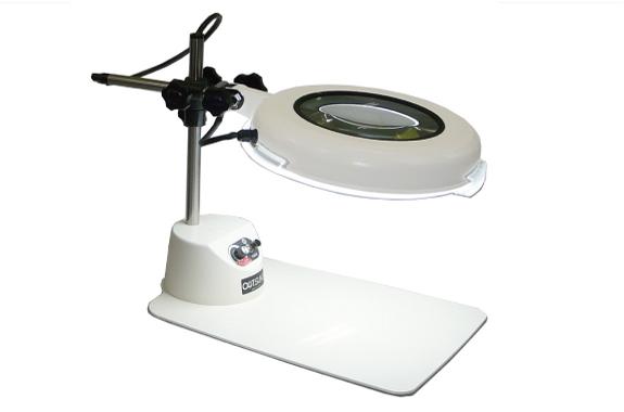 Kính lúp để bàn dùng đèn led, có độ phóng đại 3 lần  LSK-B WIDE 3X OTSUKA
